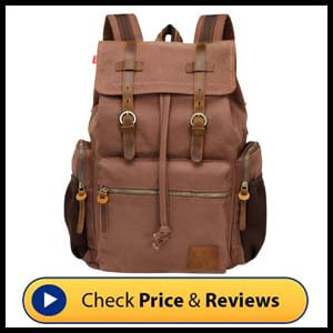 Wowbox Canvas Backpack Vintage Backpack