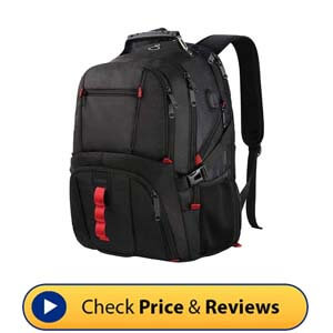 LTINVECK Extra Large Laptop Backpack - Bookbag with USB Charging Port